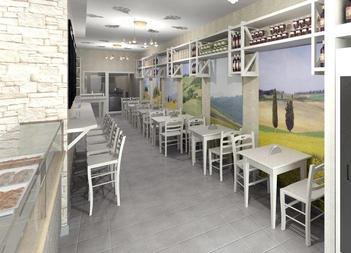 Progetto di arredo per ristorante etnico for Progetto arredo