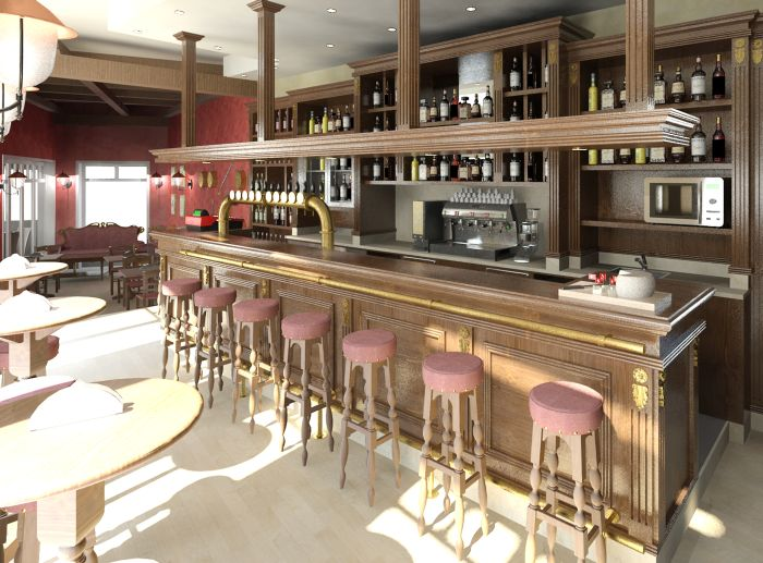 Arredamento per pub e birrerie trattamento marmo cucina for Arredamento per pub e birrerie